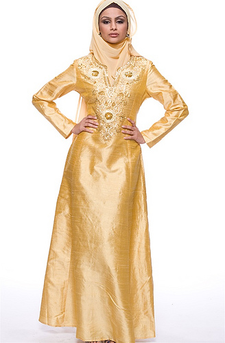 Gold Dress For Muslim Women