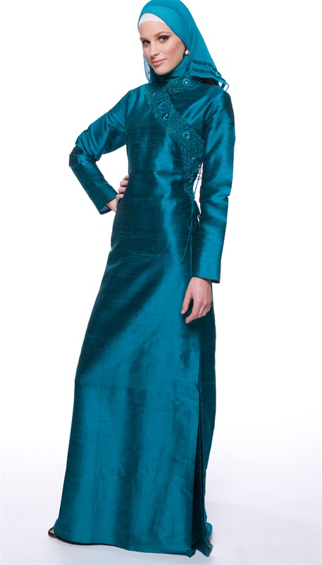 Black Blue Dress For Muslim