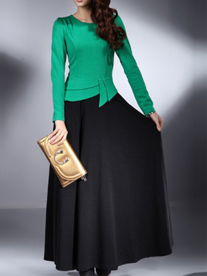 Green black Dress Islamic