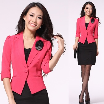 Pink Black Formal Clothes For Women