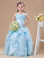 Light Blue Girls Dresses