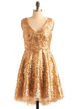Shiny Gold Dresses