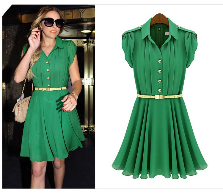 Green Ladies Dresses