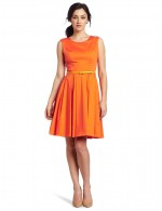 Orange Ladies Fashion Dresses