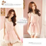 Pink White Ladies Formal Dresses