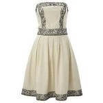 Cream Grey Online Womens Dress
