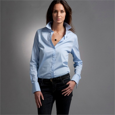 light blue shirts for women 2016