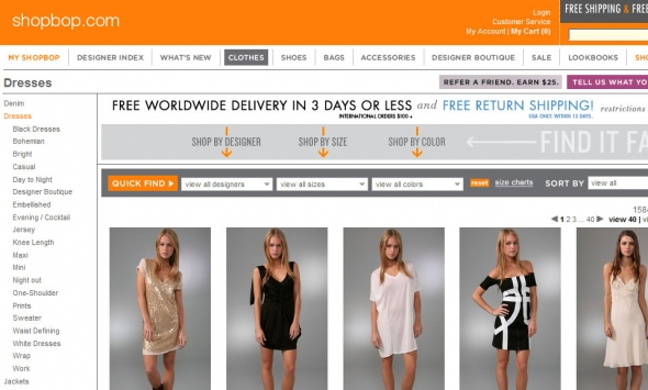 Interactive Online Clothing Store