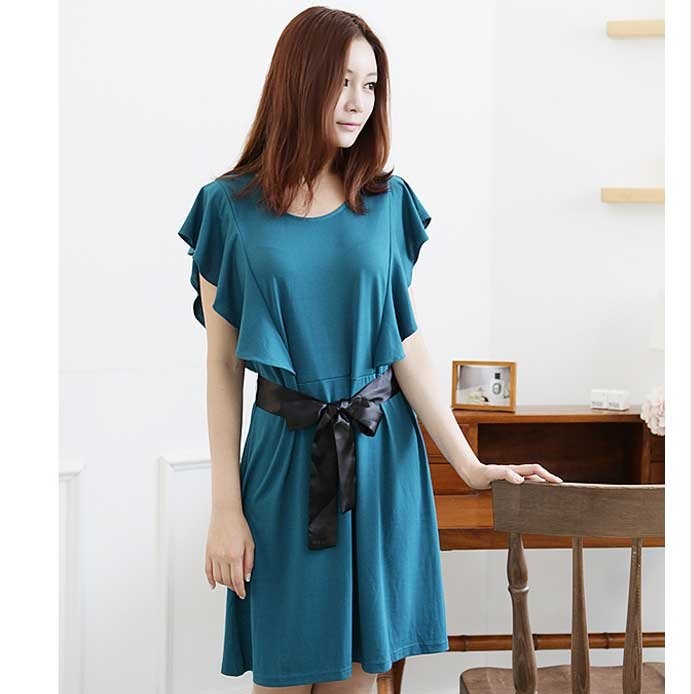 Blue Green Women Casual Dresses