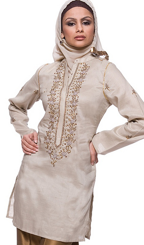 Cream Women Islamic Dresses